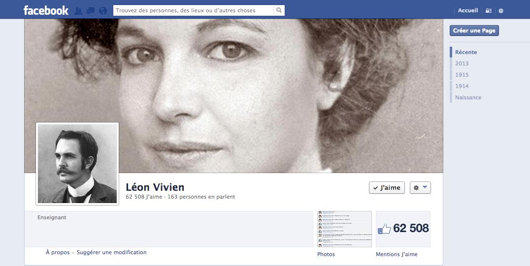 Facebook Léon Vivien