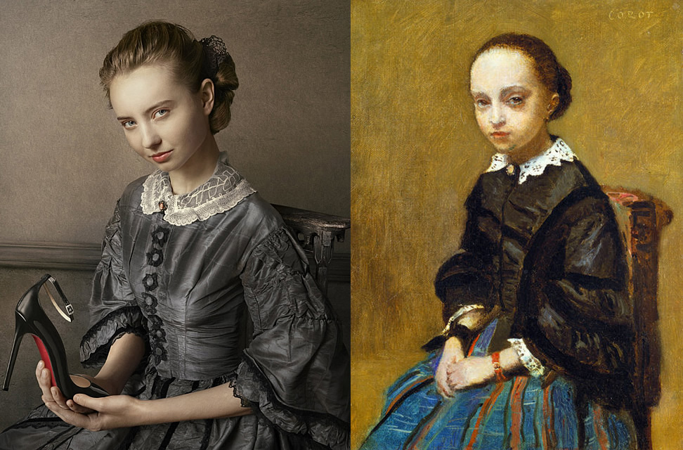 Jean-Baptiste-Camille-Corot's-Portrait-of-a-Girl