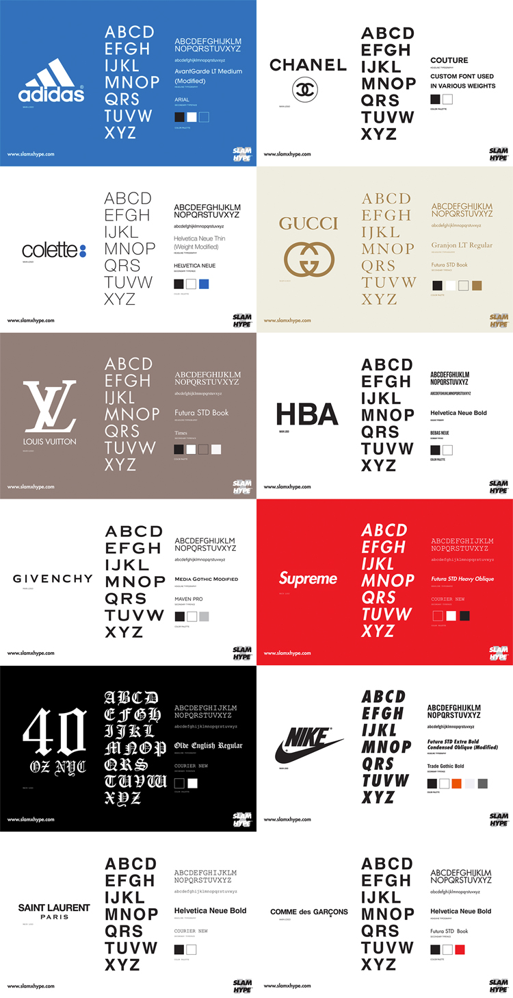 Infographic Brands with Same Typography