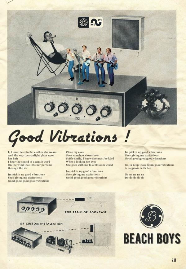 Vintage Ads Beach Boys  by David Redon