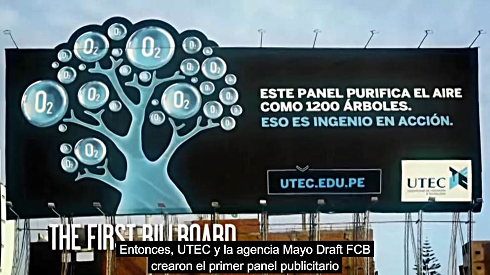 UTEC Billboard by Draft FCB Peru