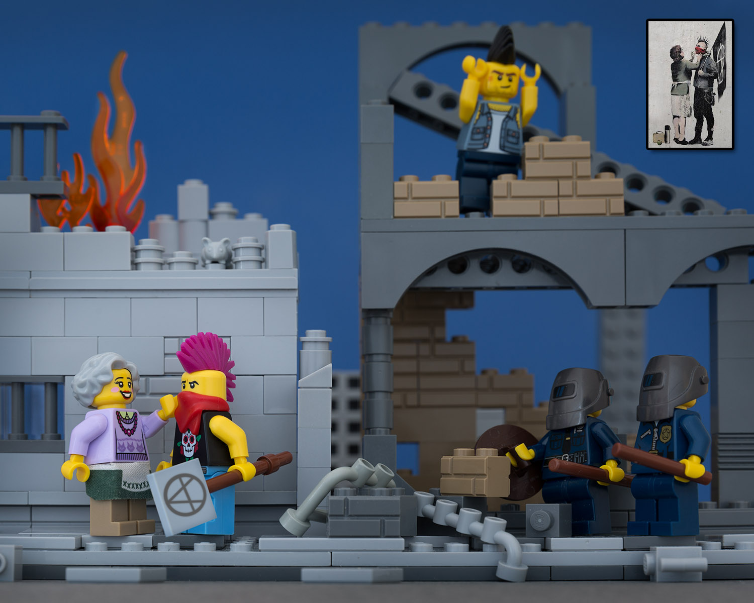 Bricksy : banksy art with lego by Jeff Friesen