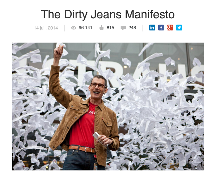 The Dirty  Jeans Manifesto by Chip Bergh, CEO Levi Strauss & Co