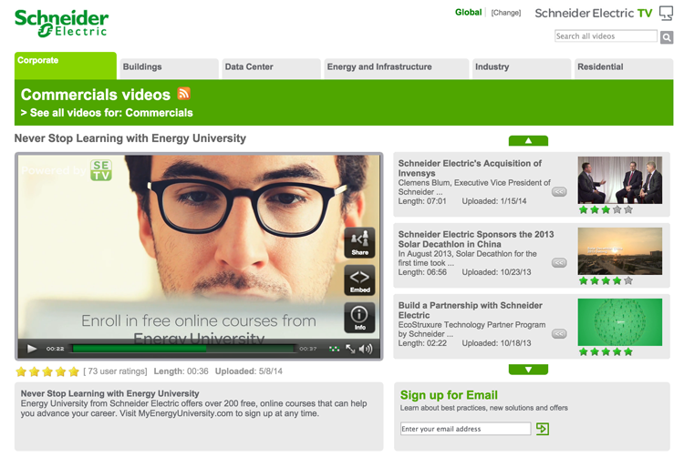 Schneider Electric Web TV
